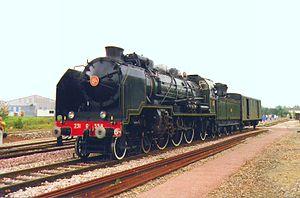 État 231-501 to 231-783 - Locomotive 231.G.558 in Bayeux, Calvados in October 1993