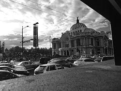 Palacio de Bellas Artes al atardecer