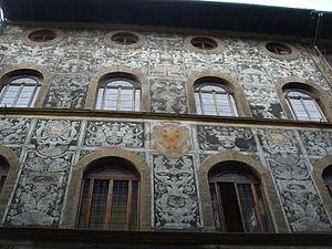 Palazzo di Bianca Cappello - Image: Palazzo di bianca cappello, graffiti 03