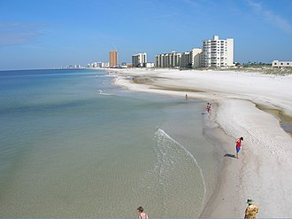 Panama City Beach, Florida - View of the beach looking northwest from St. Andrews State Park