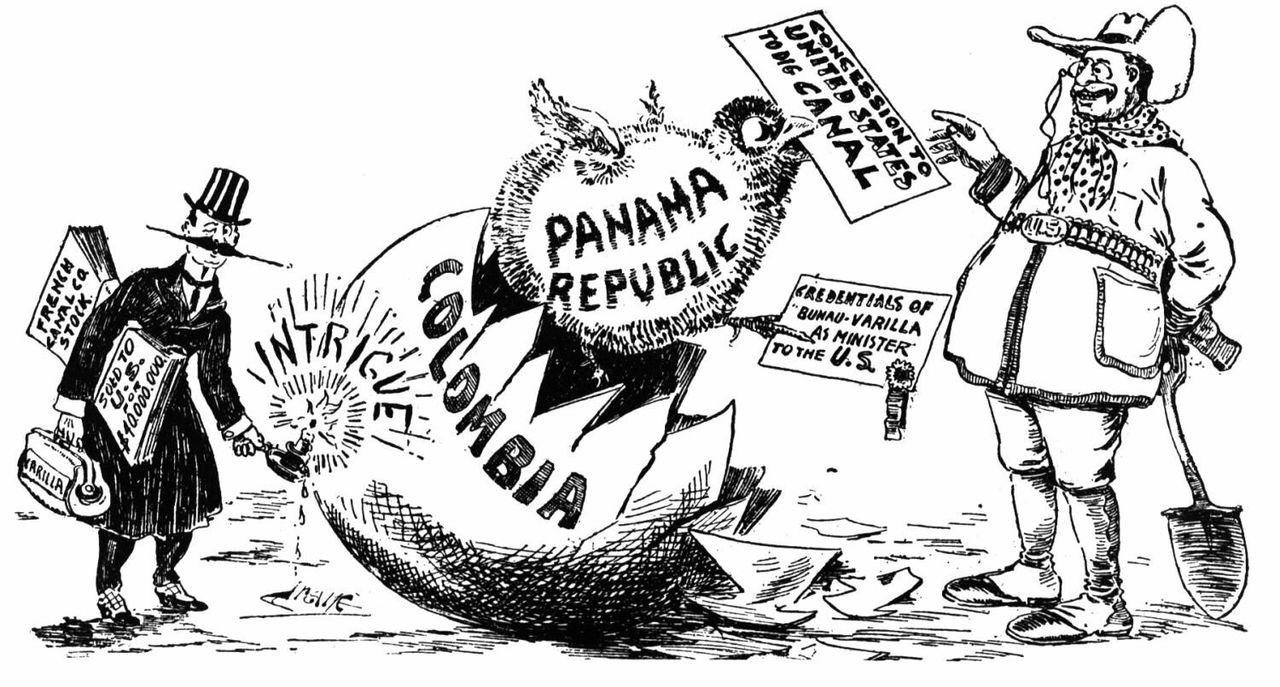 US-Karikatur zum Hay-Bunau-Varilla-Vertrag