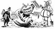 Panama canal cartooon 1903