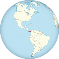 Panama on the globe (Americas centered).svg