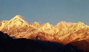 Panchchuli - Panchchuli Peaks at Sunset, near Munsiyari