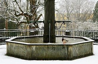 Parc de Mon Repos - Image: Parc Mon Repos fontaine et canard