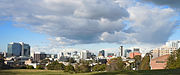 Parramatta skyline from the west August 2012