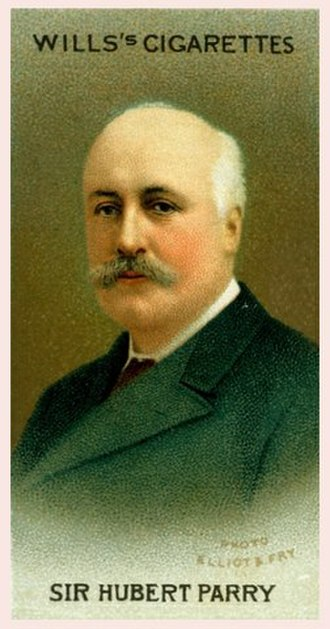 Hubert Parry - Parry shown on a 1914 cigarette card