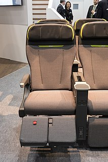 Premium economy travel class offered on some airlines