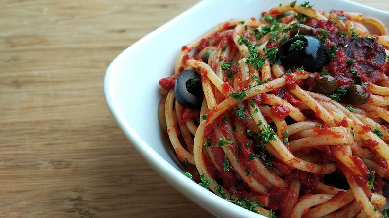 Pasta is great option for some hearty carbs before a ride. Photo Credit