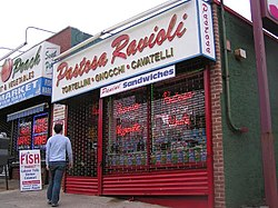 A ravioli shop on Forest Avenue in West New Brighton.