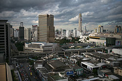 The Siam area, with Siam Square in the foreground