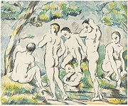 Paul Cézanne, The Bathers (Small Plate), 1897, NGA 5947.jpg