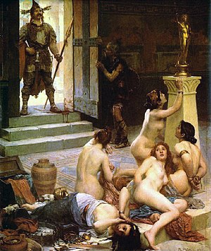 Types of rape - Brennus and His Share of the Spoils, by Paul Jamin, 1893