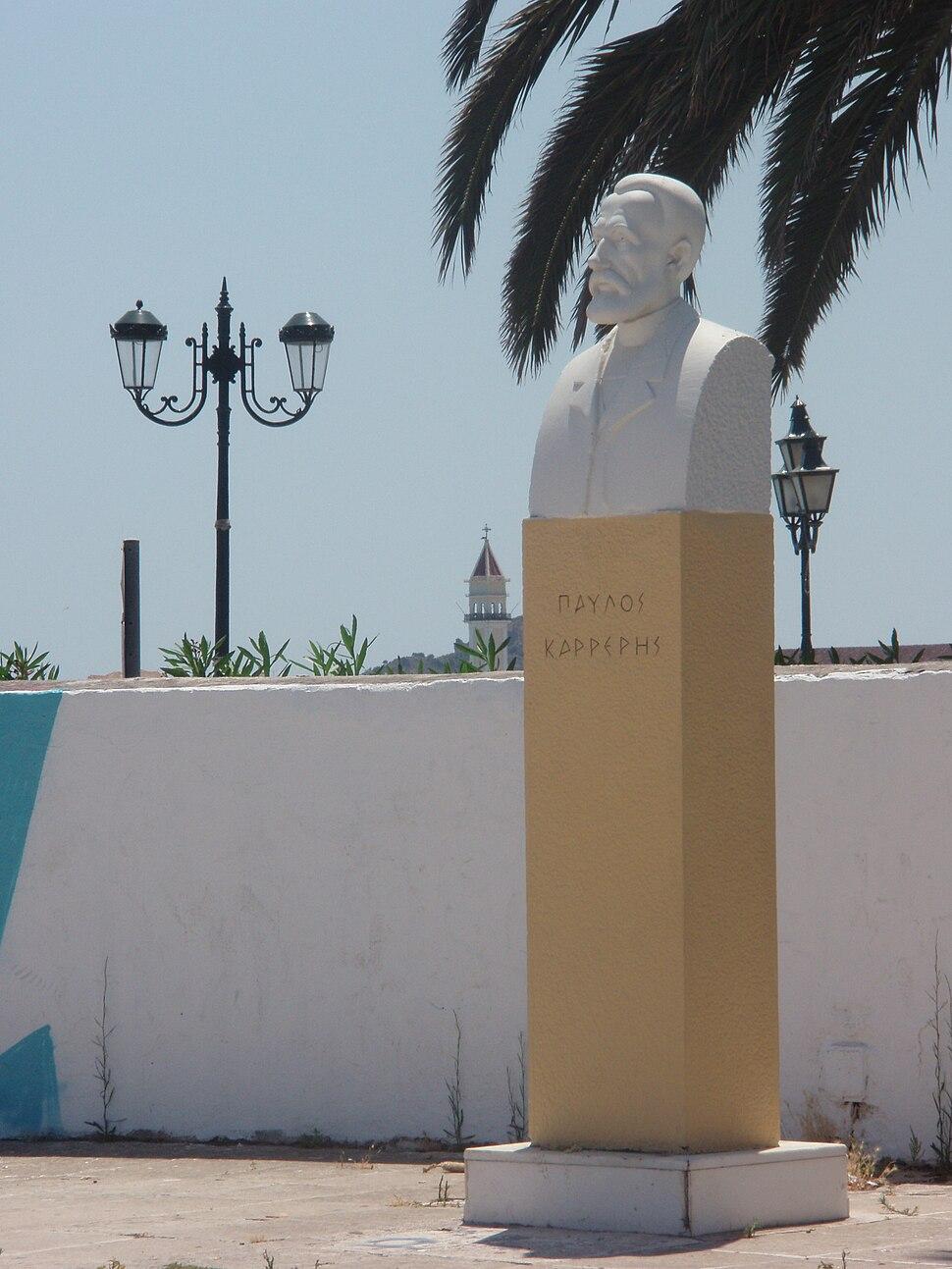 Pavlos Karreris (Paul Carrer) statue, Zakynthos City, Greece 01