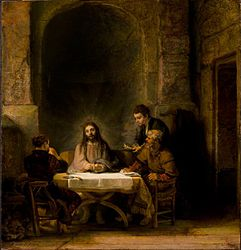 Rembrandt: The Pilgrims of Emmaus