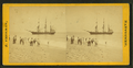People on the shore looking at a ship, by Freeman, J. (Josiah) 4.png