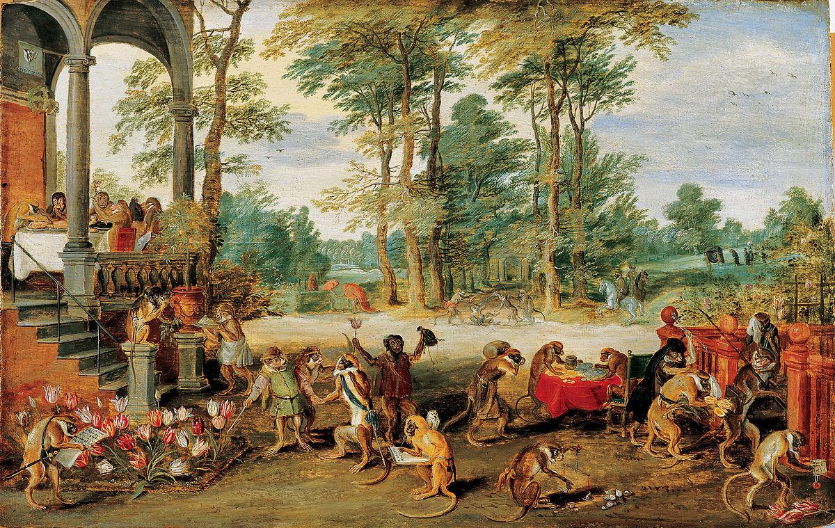 """Gemälde """"Persiflage auf die Tulpomanie"""""""