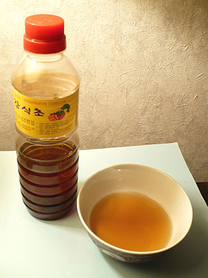 Vinegar - Persimmon vinegar produced in South Korea