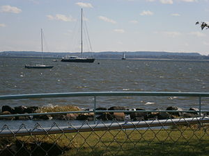Great Beds Light - Perth Amboy waterfront with view to lighthouse