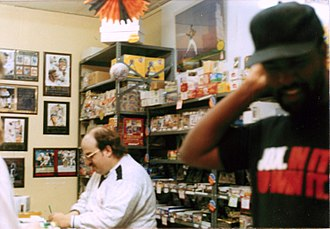 Peter David - Peter David and Larry Stroman at a comic book signing for X-Factor in the early 1990s