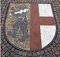 Pflastermosaik in Kirchzarten mit dem Wappen der Gemeinde.jpg