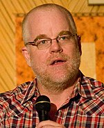 Photo of Philip Seymour Hoffman at a Hudson Union Society event in September 2010.
