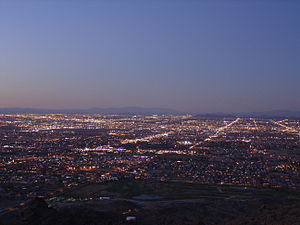 South Mountain Park - Twilight over Phoenix from South Mountain Park