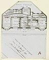 Photograph, Photograph of a Floor Plan for an Apartment Building Designed by Hector Guimard (No. 5), 1911 (CH 18387425).jpg