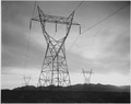Photograph of Transmission Lines in Mojave Desert Leading from Boulder Dam, 1941 - NARA - 519839.tif