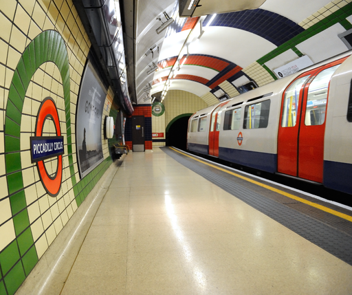 Piccadilly Circus station in London Underground