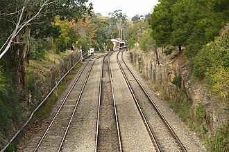 Picton–Mittagong loop railway line - Image: Picton Loop Line Turnout
