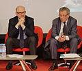 Pierre Moscovici et Pierre Dutilleul (FEP) - Salon du Livre de Paris 2015.jpg