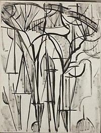 Piet Mondriaan - Composition trees 1 (unfinished) - 0334315 - Kunstmuseum Den Haag.jpg