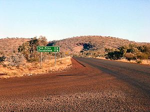 Pilbara - North of the Pilbara looking south at the range