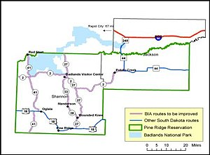Pine Ridge Reservation Map Pine Ridge Indian Reservation   Wikipedia Pine Ridge Reservation Map