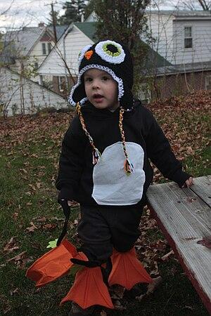 Penguin costumes.