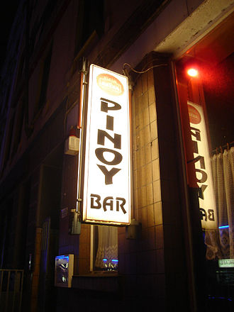 Reeperbahn - Pinoy bar in the red-light district.