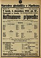 Plakat za predstavo Hoffmannove pripovedke v Narodnem gledališču v Mariboru 5. decembra 1922.jpg