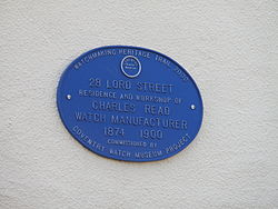 Plaque 28, lord street, chapelfields, coventry