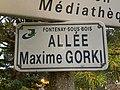 Plaque allée Maxime Gorki Fontenay Bois 1.jpg