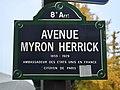 Plaque avenue Myron-Herrick, Paris 8e.jpg