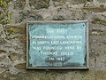 Plaque on wall of farm at Wymondhouses - geograph.org.uk - 761735.jpg