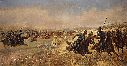 Cossacks feigning retreat against Polish uhlans at the Battle of Mir