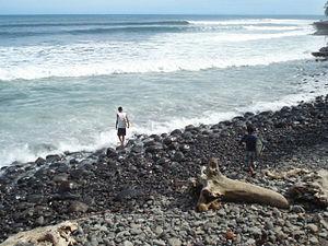 La Libertad, La Libertad - The surf break at Punta Roca