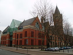 Police Courts showing the 1990s extension Police Courts Manchester 7.JPG