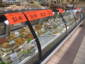 Polish Americans - The deli counter at the former Bobak's Polish supermarket in Chicago.