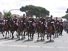 Il reparto a cavallo della polizia durante la festa del 2 giugno