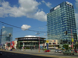 Nové Mesto, Bratislava - A complex of modern office buildings and shopping malls in Nové Mesto