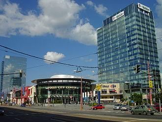 Nové Mesto, Bratislava - A complex of modern office buildings and shopping malls in Nové Mesto