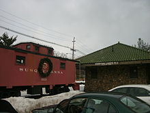 Pompton Lakes train station, which was served by the New York, Susquehanna  and Western Railway.